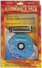 The Complete Beginners Harmonica Pack. (Harmonica/Book/CD). For Harmonica. Waltons Irish Music Instrument. Softcover with CD. Hal Leonard #WM1532. Published by Hal Leonard.  An ideal pack for those wishing to learn to play basic harmonica! Includes a simple, fully diagrammed instruction book with a fine collection of tunes, an accompanying CD with all the tunes played as they should be for easy learning and a quality Delta C harmonica.