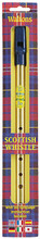 Scottish Penny Whistle. (with Six Language Instruction Booklet). For Pennywhistle. Waltons Irish Music Instrument. Hal Leonard #WM1555. Published by Hal Leonard.  Learn your favorite national and international tunes on the simplest melody instrument in the world – the tin whistle! Available in the keys of D and C, Waltons' tin whistles are made from high-quality materials and finished to produce the perfect whistle sound that make them the best-selling tin whistles in Ireland. This single whistle pack comes with a leaflet featuring fully diagrammed instruction and many easy-to-play tunes for the beginner.