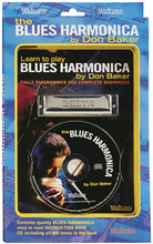 Learn to Play Blues Harmonica. (Fully Diagrammed for Complete Beginners). For Harmonica. Waltons Irish Music Books. Softcover with CD. Hal Leonard #WM1549. Published by Hal Leonard.  This best-selling pack contains everything you need to become a proficient blues harmonica player. Includes a 48-page book (HL00634005) by one of the world's finest harmonica players, Don Baker; a companion CD, including all the exercises and tunes in the book; and a quality Delta C harmonica.
