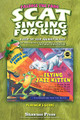Scat Singing for Kids. (A Step-By-Step Journey in Jazz). By Sharon Burch. For Choral, Vocal (TEACHER). Resource. 32 pages. Published by Hal Leonard.  The Scat Singing for Kids teacher's guide contains a detailed step-by-step process that creates a 'safe zone' and leads the most insecure student to uninhibited scattin' fun! Scat singing is the easiest way for kids to begin developing their jazz chops, but singing nonsense syllables as a soloist can be unnerving. Freddie the Frog® and the Flying Jazz Kitten storybook introduces kids to scat singing. The teacher's guide extends the learning with group scatting, flashcard instruction, scatting partners and classroom rhythm instruments. This teacher's guide is available separately or in the Teacher Jazz Set along with the Flying Jazz Kitten storybook and Scat Word Flashcard Set 5.
