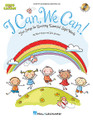 """I Can, We Can!. (Fun Songs for Learning Essential Sight Words). By John Jacobson and Mark A. Brymer. For Choral (REPRO COLLECT UNIS BOOK/CD). Collections. Book with CD. 64 pages. Published by Hal Leonard.  Reading is one of the most critical skills taught in school. An essential goal in developing this skill is making sure students are completely proficient with Sight Words. The popular """"Sing and Learn"""" series from Hal Leonard presents I Can, We Can – a creative and motivational resource that uses music to reinforce the learning of essential sight words. The Activity Songbook/Listening CD features reproducible song melodies, movement suggestions, activities and games – all presented in a sequential teaching format. Reproducible song pictures with highlighted Sight Words and illustrations are also included for additional learning reinforcement. The enclosed Listening CD provides song recordings to listen and sing-along. A CD-ROM is also available, either separately or in a Classroom Kit with the Activity Songbook/Listening CD. This Enhanced CD-ROM includes song recordings with singers and without, and printable PDFs of singer melodies, full color song pictures, piano accompaniments, activities and artwork. Fun learning through music! Available separately: Activity Songbook/Listening CD, Enhanced CD and Classroom Kit. Lessons and activities by Elizabeth Shier; with special thanks to Sarah Giordano for her creative input. Suggested for grades PreK-1.  Song List:      A Rainbow     Go To The Zoo     I Can, We Can     I Have A Name     I Like To Ride     I Roll The Ball     In My Backpack     L-i-k-e     We Go!     We Like To Move     What Is This For?"""