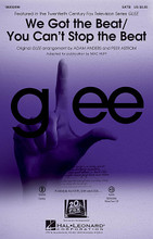 """We Got the Beat/You Can't Stop the Beat by Glee Cast. Edited by Mac Huff. Arranged by Adam Anders and Peer Astrom. For Choral (SATB). Pop Choral Series. 20 pages. Published by Hal Leonard.  Two incredibly popular songs from Glee's """"The Purple Piano Project"""" are paired in this rhythm fueled choral showcase! """"You Can't Stop the Beat"""" (from Hairspray) and """"We Got the Beat"""" (The Go-Go's) will electrify your stage! Available separately: SATB, SAB, SSA, ShowTrax CD. Combo parts available as a digital download (tpt 1-2, tsx, tbn, bsx, syn, gtr, b, dm). Duration: ca. 4:00.  Minimum order 6 copies."""