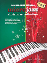 """Christopher Norton - Microjazz Christmas Collection. (Piano Intermediate to Advanced Level). By Christopher Norton. For Piano. BH Piano. Softcover. 44 pages. Boosey & Hawkes #M060124280. Published by Boosey & Hawkes.  Christopher Norton's acclaimed """"microjazz"""" series has won worldwide popularity with teachers and students alike for its stimulating blend of contemporary genres and classical values. This edition features 20 jazzy interpretations of traditional Christmas carols in styles such as jazz, blues, swing, rock 'n' roll, and reggae. This edition features: The First Nowell • Il Est Ne • Infant Holy • Jingle Rock • Mary's Calypso • O Tannenbaum • Pat-a-pan • Wassailing • We Wish You a Merry Christmas • What Child Is This? • and more."""