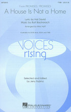 A House Is Not a Home by Burt Bacharach. Edited by Jerry Rubino. Arranged by Mac Huff. For Choral (TTBB). Voices Rising. 12 pages. Published by Hal Leonard.  Burt Bacharach and Hal David's powerful ballad from Promises, Promises was made famous by Dionne Warwick and recently showcased on Glee. Vocally challenging and full of deep emotion, this setting offers rich rewards for concert and pop groups. Available separately: SATB divisi, SSAA, TTBB. Duration: ca. 3:45.  Minimum order 6 copies.