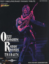 Tribute by Ozzy Osbourne and Randy Rhoads. For Guitar. Play It Like It Is. Metal and Hard Rock. Difficulty: medium. Guitar tablature songbook. Guitar tablature, standard notation, vocal melody, lyrics, chord names, guitar notation legend, introductory text and black & white photos. 128 pages. Cherry Lane Music #7904. Published by Cherry Lane Music.  Matching folio to the sensational live album, featuring: Suicide Solution * Believer * Iron Man * and more. Plus feature story and photos.