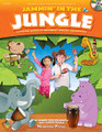 Jammin' In The Jungle! by Carole Searle and Denise Hollingworth. For Choral (REPRO COLLECT UNIS BOOK/CD). Musicals. Published by Shawnee Press.  Come on a musical safari into a magical jungle where you can drum with the monkeys, sing with lions, and shake like a rattlesnake! Educationally based, this fun-filled collection of songs is jam-packed with practical ideas for enhancing children's musical development through singing, movement, playing percussion instruments, and other hands-on activities! Jammin' in the Jungle is a fantastic resource for both classroom and home use and is suited to children aged 4-8 years. Come along and join in the fun of making music! Songs include: Jammin' in the Jungle * Snappity Snap * Elephant Paint * Monkey Rhythm * We Can Shake Like a Rattle Snake * Amazing Snakes * Hippo Rock * I'm Walking Through the Jungle * Bongo Bob * Jungle Wash Day * Barrel of Monkeys * Tigers Are a-Creeping * Monkey Hug * Tiger Jive.
