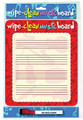 Wipe Clean Music Board. (Portrait Edition). For Piano/Keyboard. Music Sales America. 1 pages. Chester Music #CH73876. Published by Chester Music.  The Wipe Clean Music Board is a handy new tool for young musicians. Students can practice writing melodies, rhythms, notes and clefs, and rub it out if they go wrong! One side has a stave printed on, and the other side is blank. These colourful boards are a fun way to practice notation, whether in a group lesson or in one-to-one tuition. Includes a wipe-clean music pen, with an eraser on the end.