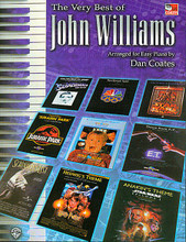 Very Best Of John Williams by John Williams. By John Williams. Edited by Carol Cuellar. Arranged by Dan Coates. For Piano/Keyboard. Artist/Personality; Piano - Easy Piano Collection; Piano Supplemental. Piano arrangement mixed folio (Easy piano). Easy Piano. Movies. SMP Level 4 (Intermediate). Songbook. Chord names. 104 pages. Alfred Music Publishing #0656B. Published by Alfred Music Publishing.  This unbeatable John Williams collection features 28 easy piano arrangement s by Dan Coates from Harry Potter and the Sorcerer's Stone, Star Wars, E.T. (The Extra-Terrestrial), Jaws, Jurassic Park, Schindler's List, Superman a nd more! Titles include: America...The Dream Goes On * Anakin's Theme (from Star Wars Episode I: The Phantom Menace) * Can You Read My Mind? (Love The me from Superman) * Cantina Band (from Star Wars) * Harry's Wondrous World (from Harry Potter and the Sorcerer's Stone) * The Imperial March (Darth Va der's Theme) (from The Empire Strikes Back) * Olympic Fanfare and Theme (19 84 Olympic Games) * Raider's March (from Raiders of the Lost Ark) * Theme f rom E.T. (The Extra-Terrestrial) * Theme from Jurassic Park and more.