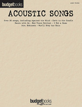 Acoustic Songs. (Budget Books). By Various. For Piano/Keyboard. Easy Piano Songbook. Softcover. 304 pages. Published by Hal Leonard.  An affordable collection of over 50 acoustic hits arranged for easy piano, including: Against the Wind • American Pie • Barely Breathing • Blackbird • Blowin' in the Wind • Building a Mystery • Cat's in the Cradle • Hallelujah • Hey There Delilah • A Horse with No Name • Ironic • Losing My Religion • Mrs. Robinson • More Than a Feeling • Small Town • Take Me Home, Country Roads • Wish You Were Here • Wonderwall • Yellow • Who'll Stop the Rain • and more.