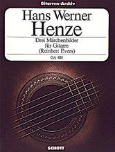 3 Fairy Tale Pictures from the Opera Pollicino (1980) by Hans-Werner Henze. For Guitar. Gitarren-Archiv (Guitar Archive). 7 pages. Schott Music #GA480. Published by Schott Music.  Guitar Solo.