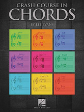 Crash Course in Chords composed by Lee Evans. For Piano/Keyboard. Educational Piano Library. Softcover. 56 pages. Published by Hal Leonard.  Here is an indispensable theory and performance workbook packed with everything the intermediate-level student needs to know about chords. Pianists and non-pianists alike will benefit from the written exercises covering everything from basic triads and 7th chords to inversions, transposition, harmonization and more. Lee Evans explains concepts in easy-to-understand language and immediately applies them in a variety of performance exercises and lead sheet examples. A must for every music student!