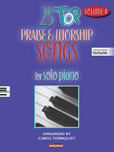 25 Top Praise & Worship Songs - Volume 4 (For Solo Piano Includes Chord Symbols). Arranged by Carol Tornquist. For Piano/Keyboard. Sacred Folio. Softcover. 96 pages. Word Music #080689461385. Published by Word Music.  Here are 25 new arrangements from today's top praise & worship songs presented in moderate to early-advanced level piano arrangements in a contemporary style appropriate for traditional as well as blended worship settings. Songs include: Amazing Grace (My Chains Are Gone) • Blessed Be Your Name • Come, Now Is the Time to Worship • Everlasting God • Forever Reign • Glory to God Forever • Here I Am to Worship • In Christ Alone • Jesus Messiah • Lord, I Lift Your Name on High • Mighty to Save • Open the Eyes of My Heart • Revelation Song • Shout to the Lord • You Are My King • and more. Also includes chord symbols for bass players, guitarists and pianists who improvise.