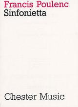 Sinfonietta by Francis Poulenc (1899-1963). For Orchestra (Score). Music Sales America. Post-1900. 172 pages. Chester Music #CH00091. Published by Chester Music.  An orchestral work in four movements written in 1947. Allegro con Fuoco • Molto Vivace • Andante Cantabile • Finale.