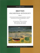 Orchestral Anthology - Volume 1. (The Masterworks Library). By Benjamin Britten (1913-1976). For Orchestra (Full Score). Boosey & Hawkes Scores/Books. Book only. 250 pages. Boosey & Hawkes #M060106064. Published by Boosey & Hawkes.  Contents: The Young Person's Guide to the Orchestra • Matinées Musicales • Soirées Musicales • The Courtly Dances from Gloriana.