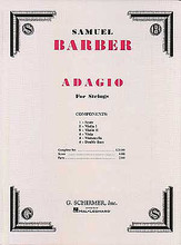 Adagio for Strings, Op. 11. ((Original Edition)). By Samuel Barber (1910-1981). For Orchestra, Strings (Score & Parts). Orchestra. G. Schirmer #OR38577. Published by G. Schirmer.   For String Orchestra (8-8-4-4-4).