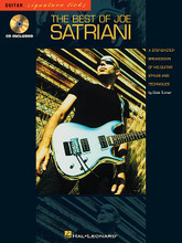 The Best of Joe Satriani by Joe Satriani. For Guitar. Hal Leonard Guitar Signature Licks. Instrumental Rock, Hard Rock and Instructional. Instructional book (song excerpts only) and examples CD. Guitar tablature, standard notation, chord names, guitar chord diagrams, guitar notation legend, instructional text and performance notes. 80 pages. Published by Hal Leonard.  Explore Satriani's scorching sound with this step-by-step breakdown of his styles and techniques. This book/CD pack provides hands-on analysis of 11 classic tracks from five albums. From Not of This Earth: Hordes of Locusts * Memories * Not of This Earth * Rubina. From Surfing with the Alien: Always with Me, Always with You * Circles * Crushing Day. From Dreaming #11: The Crush of Love. From Flying in a Blue Dream: Big Bad Moon * Flying in a Blue Dream. From The Extremist: Summer Song.