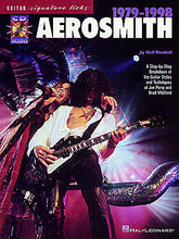 Aerosmith 1979-1998 by Aerosmith. Signature Licks Guitar. Softcover with CD. 80 pages. Published by Hal Leonard.  Explore the music of one of rock's greatest bands with this step-by-step breakdown of the guitar styles and techniques of Joe Perry and Brad Whitford. Teaches licks from: Cryin' • Crazy • Dude (Looks Like a Lady) • Janie's Got a Gun • Love in an Elevator • Nine Lives • What It Takes • more.