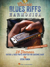 Classic Blues Riffs for Harmonica. (25 Famous Guitar & Bass Parts Adapted for Diatonic Harp). For Harmonica. Harmonica. Softcover with CD. Guitar tablature. 48 pages. Published by Hal Leonard.  Blues harmonica master Steve Cohen brings you this one-of-a-kind book/CD pack featuring the timeless riffs and licks of 25 blues standards. The classic guitar and bass lines you know and love are all arranged here for diatonic harmonica. Inside you'll get standard notation and harmonica tablature, song notes and playing tips, plus a CD with both demonstration and play-along tracks for all of the examples in the book! Songs include: Baby, Scratch My Back • Born Under a Bad Sign • Everything Gonna Be Alright • Hide Away • Howlin' for My Darling • Just a Feeling • Killing Floor • Peter Gunn • (They Call It) Stormy Monday (Stormy Monday Blues) • Woke Up This Morning • and more! Includes harmonica tablature.