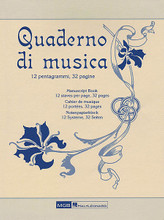 'Quaderno di musica' Manuscript Paper. (32 pages, 12 staves per page). MGB. Softcover. 32 pages. Ricordi #RER2976. Published by Ricordi.  Features high quality, ivory paper.