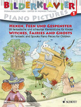 Bilderklavier Piano Pictures 1: Witches, Fairies And Ghosts: 28 Spooky Pieces For Children (28 Fantastic and Spooky Piano Pieces for Children). Edited by Monika Twelsiek. For Piano. Piano Solo. Collection. 48 pages. Schott Music #ED20321. Published by Schott Music.  Thematic book for creative piano lessons, with programmatic pieces by Couperin * Burgmueller * Grieg * Schumann * Gurlitt * Gretchaninoff * Humbert * Chatschaturian * Bartòk * Villa-Lobos * Szelenyi * Schoenmehl * and many other composers. Also includes colorful illustrations throughout by Leopé.