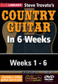 Steve Trovato's Country Guitar in 6 Weeks. (Complete Set (6 DVDs)). By Steve Trovato. For Guitar. Lick Library. DVD. Lick Library #RDR0408. Published by Lick Library.  This course is designed to focus your practice towards realistic goals achievable in six weeks. Each week provides you with techniques, concepts and licks to help you play and understand country soloing at a manageable pace. If you have been frustrated or intimidated by other educational material this course is for you. Lessons by Steve Trovato.