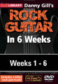 Danny Gill's Rock Guitar in 6 Weeks. (Complete Set (6 DVDs)). By Danny Gill. For Guitar. Lick Library. DVD. Lick Library #RDR0406. Published by Lick Library.  This course is designed to focus your practice towards realistic goals achievable in six weeks. Each week provides you with guitar techniques, concepts and licks to help you play and understand rock guitar playing at a manageable easy to follow pace. The material is presented to you in easy to absorb sections which progress in a sensible logical order. Stick with this course and we guarantee you will improve.