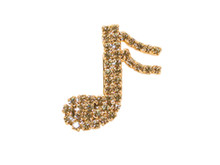 Talk about wearing your heart on your sleeve. Just attach this attractive rhinestone brooch to your outfit and let everyone know how passionate you are about music. A great conversation piece.