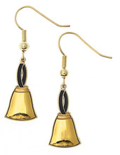 "You will look great and stylish in these handbell earings. They are sure to bring you compliments. Measures 1 1/2"" long x 7/16"" wide."