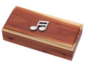 Music Emblem Cedar Box.