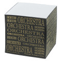 Take a few quick notes. This square orchestra memo pad makes a great reminder of things to do.