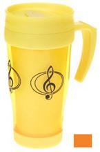 Travel Mug G-Clef - Orange.