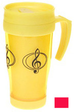 Travel Mug G-Clef - Red.