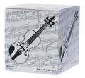 Take a few quick notes. This square violin memo pad makes a great reminder of things to do. Black and white.