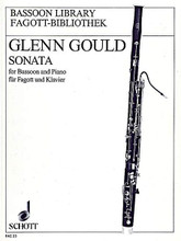 Sonata for Bassoon and Piano by Glenn Gould (1932-1982). Arranged by Carl Morey. For Bassoon, Piano (Bassoon). Fagott-Bibliothek (Bassoon Library). 28 pages. Schott Music #FAG23. Published by Schott Music.