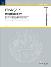 Divertissement for Bassoon and Strings. (Bassoon with Piano Accompaniment). By Jean Francaix (1912-1997) and Jean Fran. For Bassoon, Piano, Strings (Bassoon). Fagott-Bibliothek (Bassoon Library). Piano Reduction with Solo Part. 36 pages. Schott Music #FAG17. Published by Schott Music.