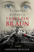 The Patient Ecstasy of Fraulein Braun. Book. Hardcover. 308 pages. Published by Hal Leonard.  Eva understands Hitler is married to Germany and must herself stand back unacknowledged as he enclasps the world in a passionate, python-like thrall. Until the last days in the final chapter of the Third Reich (and the first chapter of the novel) when Adolf and Eva move into their first home together, the Fuhrerbunker. There, deep underground, hidden from the light of day and the light of history, but laid fully bare to the author's unblinking eye, Eva Braun's unquestioning patriotism and patience finally pay off – in a private wedding ceremony and a cyanide capsule.
