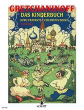 """Children's Book Op. 98. (Piano Solo). By Alexander Gretchaninoff (1864-1956). For piano. Schott. 12 pages. Schott Music #ED1100. Published by Schott Music.  15 lovely teaching pieces, with whimsical titles such as """"In the camp of the tin soldiers""""."""