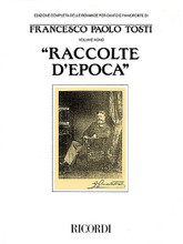 "Francesco Paolo Tosti - Raccolte D'epoca. (for Voice and Piano Vol. 9). By Francesco Paolo Tosti (1846-1916). For Piano, Vocal. Vocal Collection. 223 pages. Ricordi #RNR138738. Published by Ricordi.  From Casa Ricordi (in collaboration with l'Istituto Nazionale Tostiano di Ortona) comes Volume 9 of the Complete Works of Tosti for voice and piano. The seven song ""collections"" published in this edition are grouped together by the nature of their beautiful lyrics and include both the original text plus an English translation. The vignettes included are: Due melodie • Ai Bagni di Lucca • Pagine d'album • Altre pagine d'album • Quattro melodie • A Greyswood • Per lei."