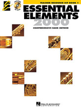 Essential Elements 2000, Book 1 (Teacher Resource Kit with CD-ROM). Essential Elements 2000. Teacher's book and CD-ROM. 100 pages. Published by Hal Leonard (HL.862586).  ISBN 0634011189. 9x12 inches.  This valuable source of support materials includes lesson plans, reproducible student activity pages and much more on CD-ROM. It's all designed to help you get the most out of your Essential Elements experience.  Over 30 Lesson Plans  Correlated to Essential Elements 2000 - Book 1 and organized into three parts:  - Learning Objectives  - Teaching Strategies  - Assessment