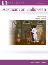 "A Scream on Halloween. (Early Elementary Level). By Wendy Stevens. For Piano/Keyboard. Willis. Early Elementary. 4 pages. Published by Willis Music.  ""Once upon a time, on a gloomy dark night, I heard a scream!"" So begins this delightfully spooky piece for the early beginner. Students will get into the Halloween mood and thoroughly enjoy playing the ""screams""! Key: A Minor."