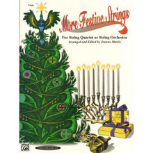 """Martin, Joanne - More Festive Strings for String Quartet or String Orchestra - Viola part - Alfred Music Publishing.  More Festive Strings for Quartet or Orchestra, by Joanne Martin, is a versatile holiday collection for a variety of instrumentation.  Composed in keys most natural to strings, this collection features quality arrangements that are longer and more interesting than most beginner holiday books.  Viola Part. Difficulty: A2.  Grading: intermediate (slightly more difficult than an """"easy"""" grade, may require some easy shifting, more complex rhythms, more advanced bowing, suitable for someone with a few years playing experience)."""