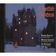 Rideout, Bonnie - A Scottish Christmas For Fiddle. CD. Published by Mel Bay Publications, Inc.  Bonnie Rideout, an internationally-acclaimed performer, is a three-time U.S. National Scottish Fiddle Champion. She performs, teaches and judges at Scottish fiddle competitions and workshops throughout North America.  This CD contains traditional Scottish carols, wassail tunes, strathspeys and reels for the celebration of Christmas, Hogmanay & the New Year. Total time 60:24 minutes.  Instrumentation: scottish fiddle, dulcimer, guitar.