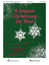 A Joyous Christmas for Two - Vol. 1 by Various. Arranged by Ellen Foncannon. For organ, piano. Pavane Publications. 27 pages. John Rich Music Press #JR7019. Published by John Rich Music Press.  In this piano and organ duet book, Ellen Foncannon provides tasteful and fun arrangements of four Christmas classics: Joy to the World • The First Noel • 'Twas in the Moon of Wintertime • We Three Kings.