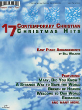 17 Contemporary Christian Christmas Hits (Ready to Play Series). Arranged by Bill Wolaver. For Piano/Keyboard. Brentwood-Benson Keyboard. 72 pages. Brentwood-Benson Music Publishing #4575711607. Published by Brentwood-Benson Music Publishing.  This songbook features 17 ready-to-play arrangements of your favorite CCM Christmas songs: Breath of Heaven • Emmanuel • Mary Did You Know? • A Strange Way to Save the World • Welcome to Our World • and more.