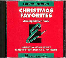 Christmas Favorites - Accompaniment CD Only (Accompaniment CD). Arranged by Michael Sweeney. For Concert Band. Hal Leonard Essential Elements Band Method. Christmas. Difficulty: easy-medium. Accompaniment CD. Published by Hal Leonard.  A collection of Christmas arrangements which can be played by full band or by individual soloists with optional CD or tape accompaniment. Each song is correlated with a specific page in the Essential Elements Method Books. Includes: Jingle Bells • We Wish You a Merry Christmas • The Chanukkah Song • Rudolph, the Red-Nosed Reindeer • and many more!