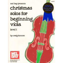 Duncan, Craig - Christmas Solos for Beginning Viola, Level 1 - Viola and Piano - Mel Bay Publications.  Mix and match! Pick any parts in any combination to create your own ensemble. Solos with piano accompaniment, duets, trios or quartets. Includes Ding Dong, Merrily on High, Oh Come All Ye Faithful and many more.  instrumentation: viola and piano