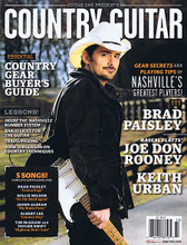 Guitar One Legends - Summer 2013. Guitar Legends Magazine. 92 pages. Published by Hal Leonard.  Guitar One presents: Country Guitar. The gear secrets and playing tips of Nashville's greatest players - Brad Paisley, Keith Urban, Joe Don Rooney and more. Plus a country gear buyer's guide, lessons on Travis Picking and banjo licks, plus five song transcriptions. Brad Paisley: Camouflage • Willie Nelson: On the Road Again • Jason Aldean: My Kinda Party • Albert Lee: Country Boy • Tim McGraw & Taylor Swift: Highway Don't Care.