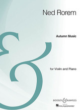 Autumn Music - Violin And Piano - Archive Edition. Boosey & Hawkes Chamber Music. 24 pages. Boosey & Hawkes #M051107100. Published by Boosey & Hawkes.