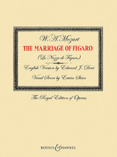 The Marriage of Figaro (English Version by Edward J. Dent Vocal Score by Erwin Stein The Royal Edition of Operas). By Wolfgang Amadeus Mozart (1756-1791). Edited by Edward J. Dent. For Voice, Piano Accompaniment (Vocal Score). Boosey & Hawkes Voice. Softcover. 360 pages. Boosey & Hawkes #M060125089. Published by Boosey & Hawkes.  Italian text with English translation.