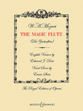 The Magic Flute (English Version by Edward J. Dent Vocal Score by Erwin Stein The). By Wolfgang Amadeus Mozart (1756-1791). Edited by Edward J. Dent. For Voice, Piano Accompaniment (Vocal Score). Boosey & Hawkes Voice. Softcover. 204 pages. Boosey & Hawkes #M060125096. Published by Boosey & Hawkes.  German text with English translation.
